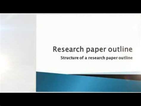 Write a term paper outline
